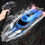 HJ808 2.4G High Speed Sailing Boats Remote 25KM / H