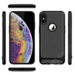ENKAY ENK-PC021 Solid Color Carbon Fiber TPU Soft Shell Anti-fall Phone Cover Case for iPhone XS
