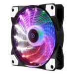 Colorful 15 LEDs Lamp Emitting Streamer Desktop Computer CPU Cooling Fan with LED Light