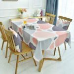 Nordic Light Luxury Style Digital Printing Thickened Cotton Linen Oilproof and Anti-fouling Tablecloth Table Cover Home Kitchen Decoration