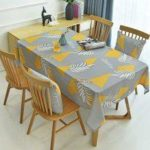 Nordic Style Digital Printing Thickened Cotton Linen Oilproof and Anti-fouling Tablecloth Table Cover Home Kitchen Decoration