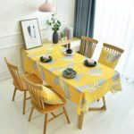 Nordic Light Luxury Simple Style Digital Printing Thickened Cotton Linen Oilproof and Anti-fouling Tablecloth Table Cover Home Kitchen Decoration