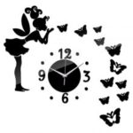 Angel Butterfly Pattern DIY Acrylic Wall Clock Study Room Living Room Home Decoration Sticker Wallpaper Clocks