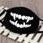 Black Face Mask Face Covering Washable And Reusable Cotton Mask 10PCS KZ-3036