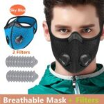 Cycling Face Mask Activated Carbon Windproof DustProof Lightweight Breathable Sportswear Mask