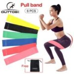 Outtobe 6 PCS Resistance Loop Exercise Bands Resistance Bands Elastic Pull Rope Latex Yoga Exercise Expander Fit Simplify