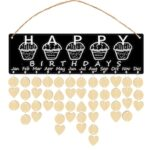 137483I Wooden Birthday Calendar Board Holiday Calendar Home Decoration (1 Set)