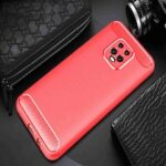 Brushed Carbon Fiber Phone Case for Xiaomi Redmi 10X Pro 5G
