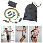 Gocomma Resistance Bands Heavy Workout Exercise Yoga Fitness Tubes Home Training Gyms Workout Elastic Band 11PCS / Set