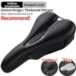 ROCKBROS Silicone Bicycle Saddle Hollow Breathable MTB Bike Seat Cushion Cover Mat Silica gel Saddle Cycling Accessories Part