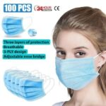 100pcs Mask Disposable Nonwove 3 Layer Ply Filter Mask mouth Face mask – China