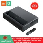 Xiaomi Mijia 1S 4K Laser Projector 150-inch 2000 ANSI Lumens Screen Projector With The T968-H CPU And 2 GB RAM 32 GB Storage 3840×2160 Resolution