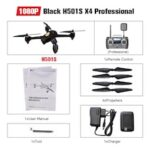 Original Hubsan H501S X4 Pro 5.8G FPV Brushless W 1080P HD Camera GPS RTF Follow Me Mode Quadcopter Helicopter RC Drone
