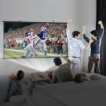 Excelvan 120 inch Diagonal 160-degree Viewing Angle Portable Fast Install Wall-mounted Projector Screen