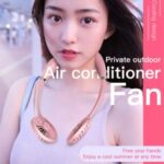 Hands-free Neck Band Fan Hanging USB Rechargeable Mobile Air Condition Fan 3000mAh