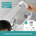 Kitchen Bathroom Sink Water Faucet External Shower Head Set Toilet Flush Extension Tap Small Nozzle Wash Hair Shower With Holder