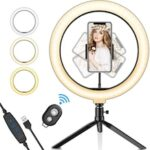 10Inch Ring Light with StandLED Ring Light with Stand and Phone Holder for YouTube Video Live Stream Makeup Photography