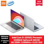Original Xiaomi RedmiBook 14 II Laptop Intel Core i7-1065G7/i5-1035G1 Processor MX350 8GB/16G DDR4 512GB SSD Notebook Ultra-thin Work Study Computer