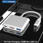 New USB HUB USB C to HDMI VGA Type-C PD Charging Adapter Dock For MacBook Pro Accessories Type C USB 3.0 Splitter HUB