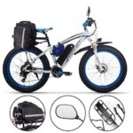 RICH BIT 1000W 4.0 Fat Tire Electric Bicycle 26inch 48V Mountain Snow EBike Shimano 7-Speed Gear Shifts E-PAS Recharge System