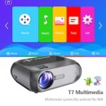 VIVICINE Newest 720p Handheld HDMI USB Home Theater Portable LED Projector