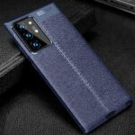 Leather Texture Carbon Fiber Phone Case for Galaxy Note 20 plus