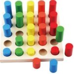 Wooden Porous Geometric Classification Blocks Childhood Early Learning Puzzle Building Block Kit
