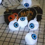 Halloween Decoration Ghost Eye Pattern LED String Light
