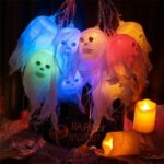 Halloween Decoration Ghost Shape LED String Light Constant Lighting 2.5M