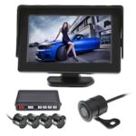 4.3 inch LCD Display 4 Probe Reversing Radar Reversing Video Camera System Kit Backup Alarm Buzzer