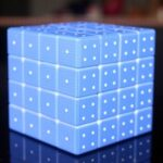 Fourth-order Blind Decompression 3D Embossed Magic Cube Braille Fingerprint Stereo Cubes