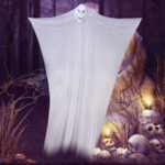 Festive Party Scene Decorations Halloween Skeleton Horror Ghost Gauze Property 1.8*3.3m