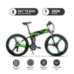 RICH BIT 26 Inch Electric Folding Bike with Removable Large Capacity Lithium-Ion Battery 36V 250W Electric BikeSmart LCD Meter 27 Speed