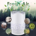 Air Purifier for Bedroom Desktop Air Purifier for Home Smokers USB Air Cleaner White