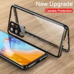 New Upgrade Magnetic Case for Huawei P40 Pro 5g Global Tempered Glass Metal Bumper Full Cover for Huawei P40 Cases