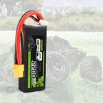 Ovonic 2200mAh 7.4V 2S 50C LiPo Battery Pack with XT60 Plug Compatible with Rc Traxxas E-Revo VXL