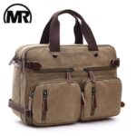 MARKROYAL Canvas Leather Men Travel Bags Hand Luggage Bags Men Duffel Bags Travel Tote Hide The Shoulder Strap Dropshipping