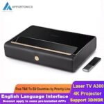 APPOTRONICS A300 4K Projector Ultra Short Throw Laser 250 Nit 2GB DDR3 + 64GB eMMC Home Theatre Support 3D HDR From Xiaomi Ecosystem