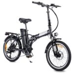 Dohiker 20 inch Folding Electric Bike 250W Removable 10AH Li-Battery 7 Speed 3 Modes 25KM / H Commuter Bike Black