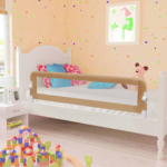 vidaXL Toddler Safety Bed Rail Taupe 15x42cm Polyester