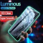 Luminous Glow Protective Tempered Glass For iPhone 11 Pro Max SE 2020 7 8 Plus 11pro X XR XS Max XR Screen Protector Film For iPhone 11 Pro Max