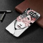 Black Background TPU Painted Phone Case for Xiaomi Redmi Note 9 Pro