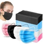 Mouth Masks 3-layer Anti-Dust Disposable Non Woven Meltblown Cloth Masks Elastic Ear Loop Non-medical Face Mask