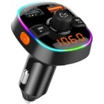 BC52 FM Transmitter Car Bluetooth Hands-Free Phone Vehicle MP3 Player QC3.0 Charger