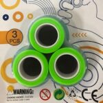 Decompression Toys Magnetic Ring Spinning Top 3PCS