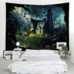 Digital Printing Polyester Fabric Halloween Tapestry Living Room Decoration Fabric