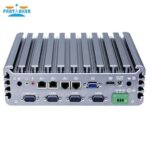 Fanless mini pc industrial computer Intel 3855U i3 6100U i5 6200U processor RS422 485 mini linux embedded pc for industrial