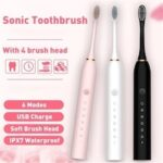 NEW Sonic electric toothbrush Oral Care Automatic Adult Soft Fur Waterproof Five Gear Adjustment Vibration Household Couple Electric Toothbrush