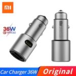 Original Xiaomi Car Charger Original QC 3.0 Dual USB Quick Charge Max 5V 3A 36w For iPhone Samsung Huawei oppo vivo Xiaomi Car Charger