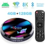 Android TV Box H96 Max X3 4K/8K Android 9.0 Smart TV Box Amlogic S905 X3 Chipset Support H265 VP9 Video Decoding 2.4G 5GWifi 1000M LAN USB 3.0